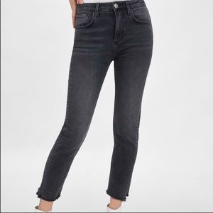 Zara black slim fit hi rise jeans high waist